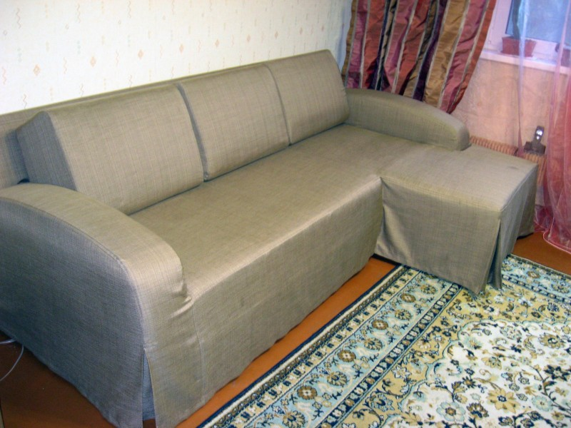 Чехол для углового дивана на резинке своими руками