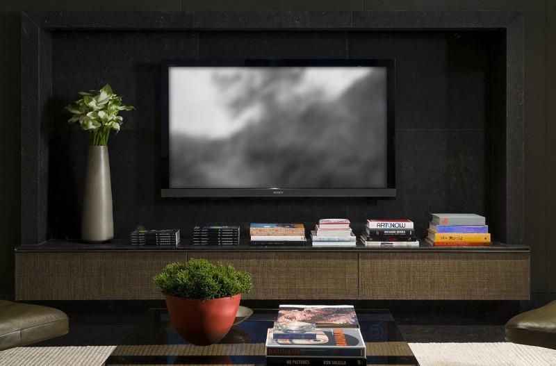Большие телевизоры в интерьере фото