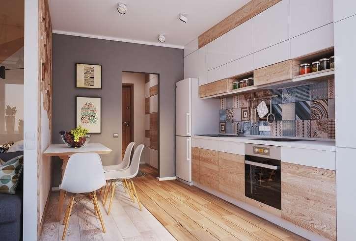 Дизайн кухни в однокомнатной квартире фото идей, подбор стиля