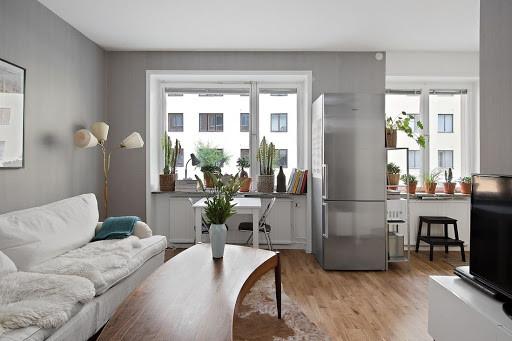 Дизайн однокомнатной квартиры потрясающих интерьеров