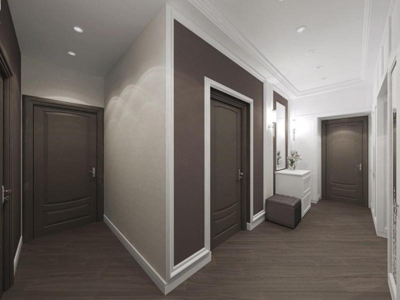 Натяжные потолки в коридоре фото