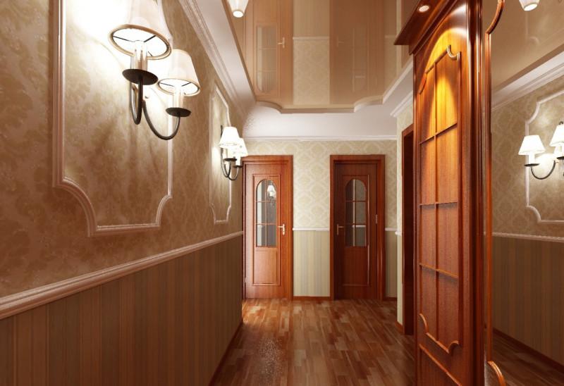 Потолок в коридоре дизайн фото