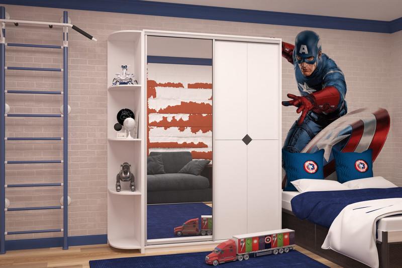 Дверцы шкафа в комнате подростка